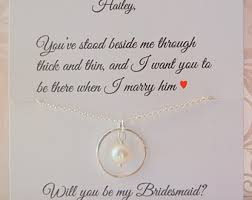 gifts to ask bridesmaids to be in wedding infinity bridesmaid necklace of honor necklace will you