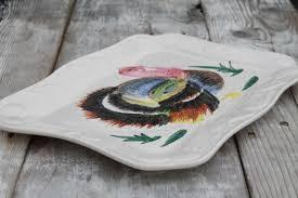 ceramic turkey platter japan painted ceramic thanksgiving turkey platter w