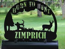 bow hunter mailbox topper address sign home decor deer hunting