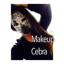 Zebra Halloween Makeup by Makeup Zebra Maquillaje De Cebra Youtube