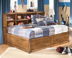 Full Size Trundle Bed With Storage Enchanting Full Size Headboard With Shelves And Bedroom Organize