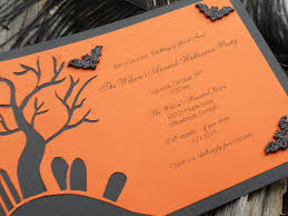 scary halloween party invitation ideas features party dress fun