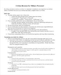 Resume Examples For Military To Civilian by Military Resume 8 Free Word Pdf Documents Download Free
