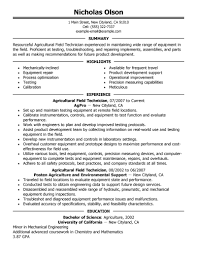 Best Engineer Resume by Efficient Field Engineer Resume Example With Field Technician