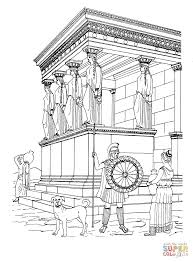 erechtheion temple coloring page free printable coloring pages