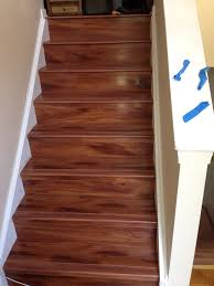 Stairs With Laminate Flooring Laminate Staircase Remodel In Tucker Georgia Metro Atl Floors Llc