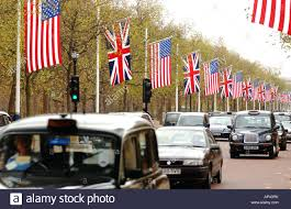 Flags Of America States Flags Of The United States Of America And Great Britain Flying In