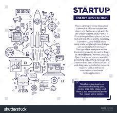 vector creative concept illustration startup header stock vector