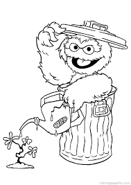 sesame street coloring pages 341