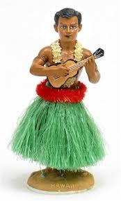 ukulele hula dashboard doll