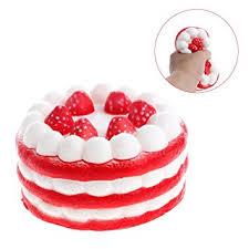 jeux de cuisine de aux fraises 1 pcs squishy jumbo gâteau aux fraises efanty rising lente kawaii