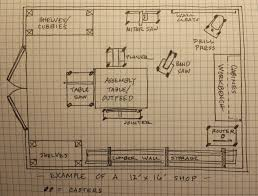 12 x 16 wood shop layout google search http