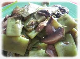 comment cuisiner les haricots plats haricots plats et chignons recette ptitchef
