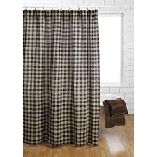 Check Shower Curtain Burlap Black Check Shower Curtain Primitive Quilt Shop