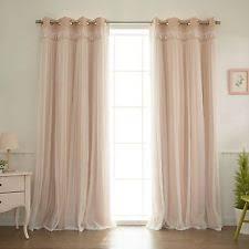 peach curtains ebay