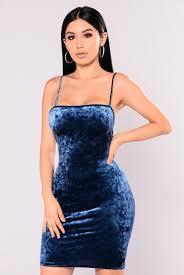 dress blue velvet dress blue