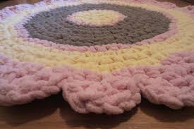 Round Bathroom Rug by Custom Round Rug Pick Your Colors Crocheted Mat Washable