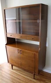 Hutch 3 Mid Century Modern Mini China Cabinet Hutch By Kroehler Picked