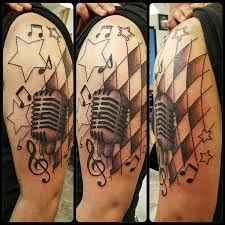 music and microphone tattoo by ajay resha u2013 lefty u0027s tattoo company