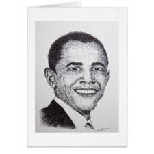 president obama drawing gifts on zazzle