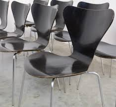 Black Butterfly Chair Set Of Black Butterfly Chairs By Arne Jacobsen For Fritz Hansen