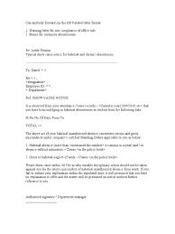 warning letter for absence
