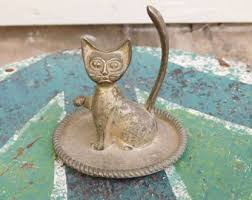 metal cat ring holder images Cat ring holder etsy jpg