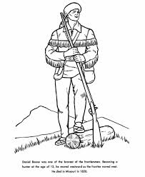 Daniel Boone Coloring Page daniel boone the coloring page student teaching