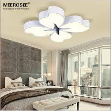 Bedroom Led Ceiling Lights Meerosee 54 Watt White Metal Base Led Ceiling Light Flower Fancy