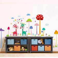 online shop cartoon animal forest fawn wall sticker mushroom wall