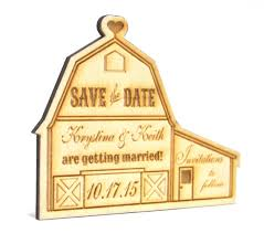 Rustic Save The Date Magnets Personalized Rustic Country Wooden Barn Wedding Save The Date