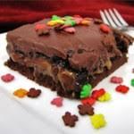 chocolate caramel nut cake recipe allrecipes com