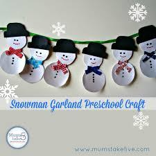 make a simple snowman garland