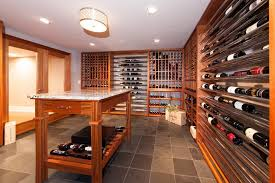in floor wine cellar wine tasting table wine cellar traditional with brown stone floor