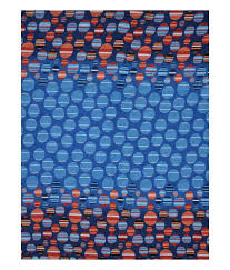 Buy Double Bed Sheets Online India Homefab India Blue Geometrical Print Cotton Double Bed Sheet Buy