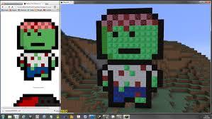 pixel art the zombie collection minecraft pixel art building ideas