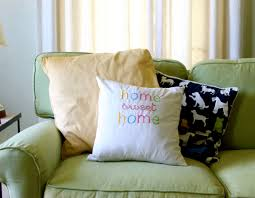 diy embroidered home sweet home throw pillow