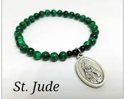 st jude bracelet st jude charm etsy