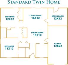 2 u0026 3 bedroom independent living twin homes floor plans