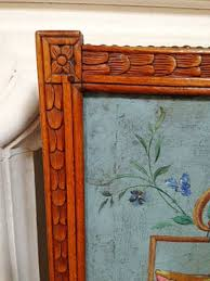 Hand Painted Fireplace Screens - 18thc hand painted fireplace screen