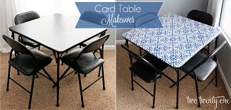 how big is a card table card table makeover two twenty one
