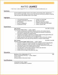 How To Rite A Resume 9 How To Write A Resume For Teaching Job Basic Job Appication