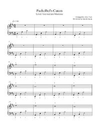 tutorial piano canon canon in d by pachelbel piano sheet music intermediate level