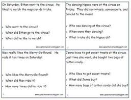 circus auditory memory activities for sentences riddles and stories
