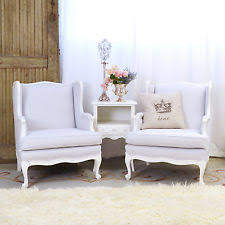 French Linen Armchair Linen Chair Ebay