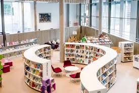 circular bookcases in libraries google search libraries