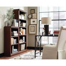 hampton bay 3 shelf decorative bookcase in dark brown thd130418 1a