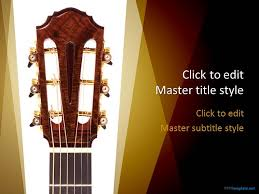 creative free guitar ppt template for presentations on music ppt