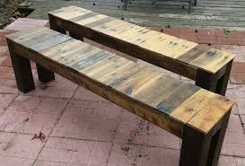 recent custom reclaimed wood and metal dining by