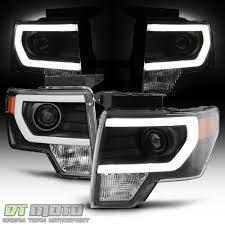 Ford Raptor Headlights - new black 2009 2014 ford f150 raptor led tube drl projector